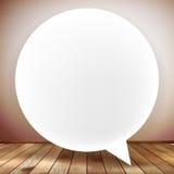 Sprache-Blase auf hölzernem Hintergrund Plus-EPS10 Stockfoto