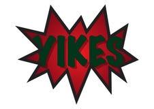 Sprache-Blase Yikes Spikey Stockfotos
