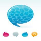Sprache-Blasen Stockfoto