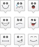 Sprache-Blasen-Gesichter Lizenzfreies Stockfoto