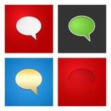 Sprache-Blasen-Hintergrund-Satz Stockbild
