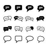 Sprache-Blasen-Ikone Lizenzfreies Stockfoto
