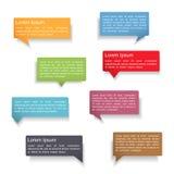 Sprache-Blasen mit Schatten Lizenzfreie Stockfotos
