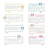 Sprache-Blasen mit Zitaten Lizenzfreies Stockbild