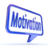 Sprache-Blasen-Motivation Stockfotografie