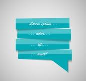 Sprache-Blasen-Schablonen-Vektor-Illustration Lizenzfreies Stockfoto