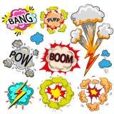 Sprache-Blasensatz der Vektorpop-art komischer moderner vektor abbildung