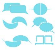 Sprache-Kasten-Blau-Grafik Lizenzfreies Stockbild