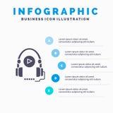 Sprache, Kurs, Sprachkurs, Ausbildung Infographics-Darstellungs-Schablone 5 Schritt-Darstellung lizenzfreie abbildung