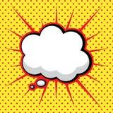 Sprache-Luftblase in der Herausspringen-Kunst Art Stockfoto