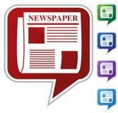 Sprache-Luftblase eingestellt - Zeitung lizenzfreie abbildung