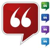 Sprache-Luftblase stellte - Anführungsstriche ein Lizenzfreie Stockbilder