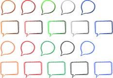 Sprache-Luftblasen Lizenzfreies Stockbild