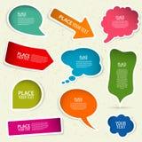 Sprache-Luftblasen Lizenzfreies Stockfoto