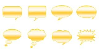 Sprache-Luftblasen Stockfotografie
