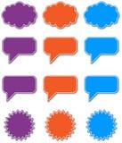 Sprache-Luftblasen in eps10 Lizenzfreies Stockbild