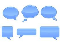 Sprache-Luftblasen-Ikonen Stockfotografie