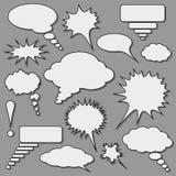 Sprache-Luftblasen stellten ein Stockfotografie