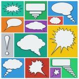 Sprache-Luftblasen stellten ein Stockbild