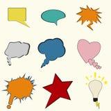 Sprache-Luftblasen stellten ein Lizenzfreies Stockbild