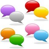 Sprache-Luftblasen-Zeichen-Set Lizenzfreie Stockfotos