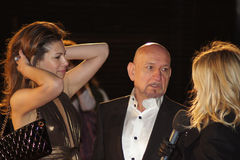 Sprache-Premiere des Königs des Sir-Ben Kingsley At The Lizenzfreies Stockbild