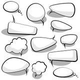Sprache-und Gedanken-Luftblasen Lizenzfreie Stockfotos