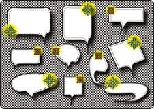 Sprache-und Gedanken-Luftblasen Lizenzfreies Stockfoto