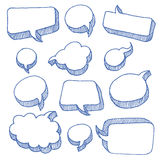 Sprache-und Gedanken-Luftblasen Stockfoto