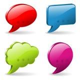 Sprache-und Gedanken-Luftblasen Lizenzfreies Stockbild