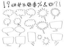 Sprache- und Gedankenluftblasen Lizenzfreie Stockfotos