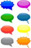 Sprache- und Gedankenluftblasen stockbilder