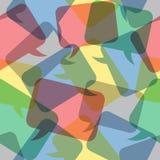 Spracheblasen des nahtlosen Musters transparente Farb Lizenzfreie Stockfotografie