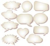 Spracheblasen geschnitten vom Papier Stockbilder
