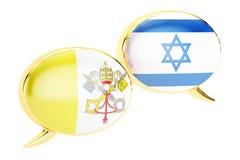 Spracheblasen, Lateinisch-israelisches Gesprächskonzept Wiedergabe 3d vektor abbildung