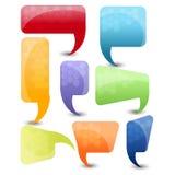Spracheblasen- oder -Chatkästen Stockbild