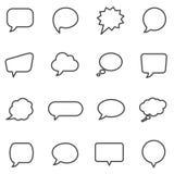 Spracheblasen und Dialogballone stock abbildung