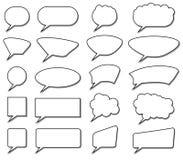Spracheblasensammlung Stockbild