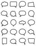 Spracheblasensammlung Lizenzfreie Stockfotos