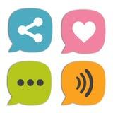 Spracheblasensocial media und -Chat Lizenzfreie Stockfotos
