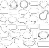 Sprachekarikaturluftblasen lizenzfreie abbildung