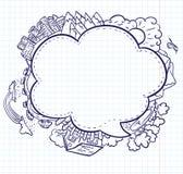 Spracheluftblase vektor abbildung