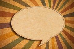 Spracheluftblase auf Corkboard Lizenzfreie Stockbilder
