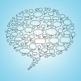 Spracheluftblase in der Spracheluftblase Stockfoto