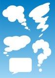 Spracheluftblasen Stockfoto