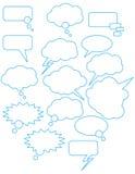 Spracheluftblasen Lizenzfreies Stockfoto