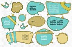 Spracheluftblasen eingestellt Lizenzfreie Stockbilder