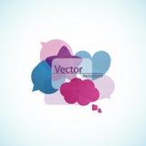 Spracheluftblasen, Hintergrund Stockfotos