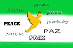 Sprachen des Friedens Stockfotos