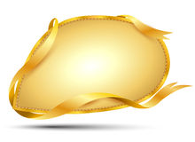 Sprachetext mit Goldband Lizenzfreie Stockbilder
